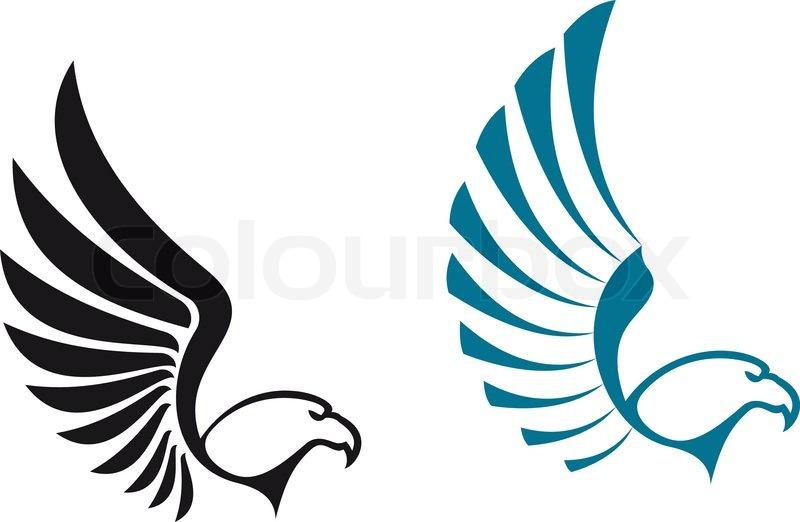 Eagle Symbols Isolated On White Background For Mascot Or Emblem