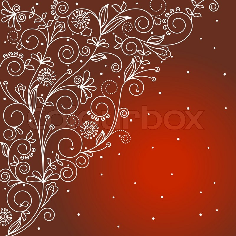 Abstract Floral Background For Textile Stock Vector Colourbox