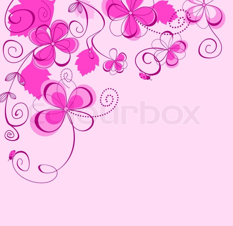 abstract purple floral background flower petals for seasonal design vector - Floral Backgrounds