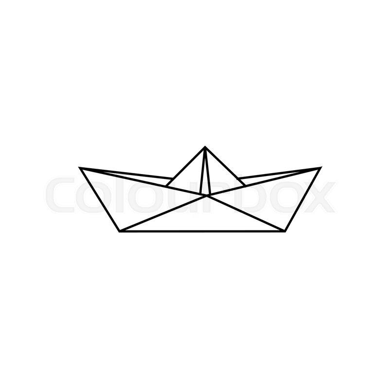 Sketch Paper Boat Vector Illustration EPS 10