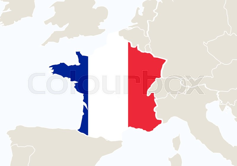 France with highlighted france map vector illustration stock france with highlighted france map vector illustration vector gumiabroncs Gallery