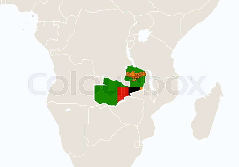 Africa with highlighted zambia map vector illustration stock africa with highlighted zambia map vector illustration vector gumiabroncs Gallery