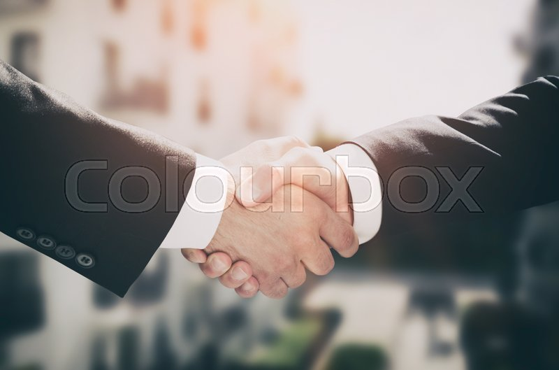 Business handshake, business people agreement. deal investor agree real estate agent concept, stock photo