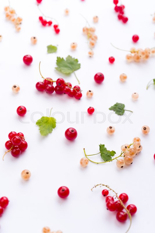 Stock image of 'Top View Photo of mix of berries isolated over white background table.'