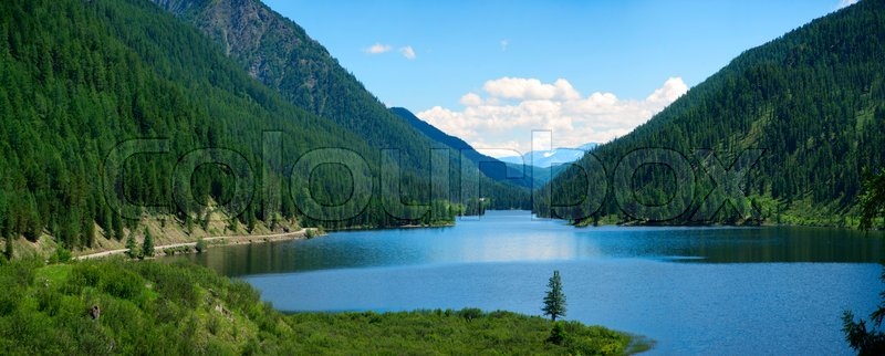 Stock image of 'Ulagan lakes. Altai mountains. Siberia Russia. Panorama big size'