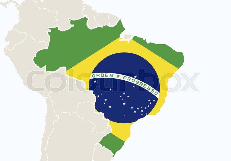 South america with highlighted brazil map vector illustration south america with highlighted brazil map vector illustration vector gumiabroncs Choice Image