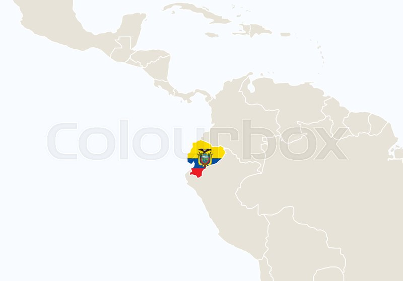 South america with highlighted ecuador map vector illustration south america with highlighted ecuador map vector illustration vector gumiabroncs Image collections