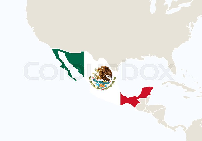 Central America with highlighted ... | Stock vector | Colourbox