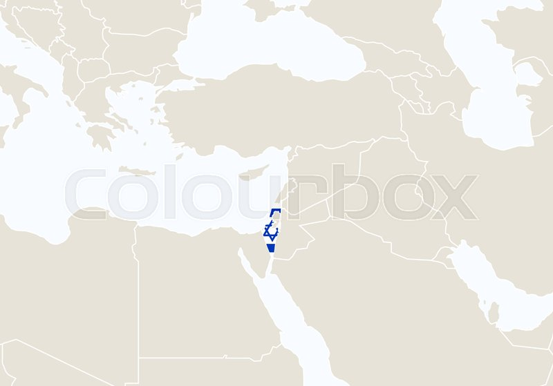 Asia with highlighted israel map vector illustration stock asia with highlighted israel map vector illustration vector gumiabroncs Choice Image