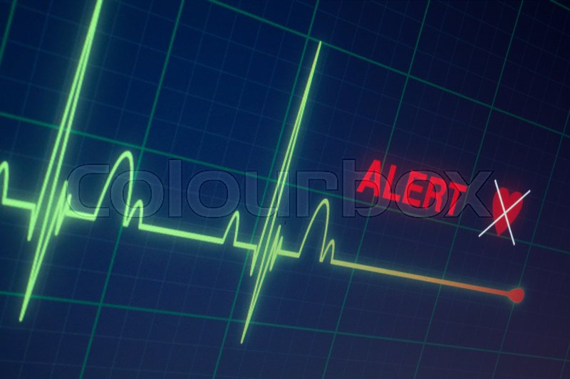 Stock image of 'Heart beats cardiogram on the monitor.'