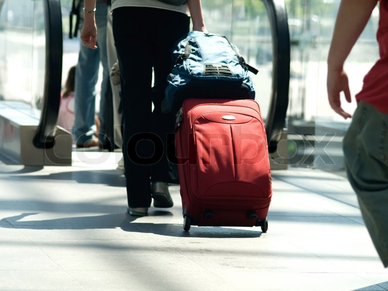Traveller With A Suitcase Stock Photo Colourbox