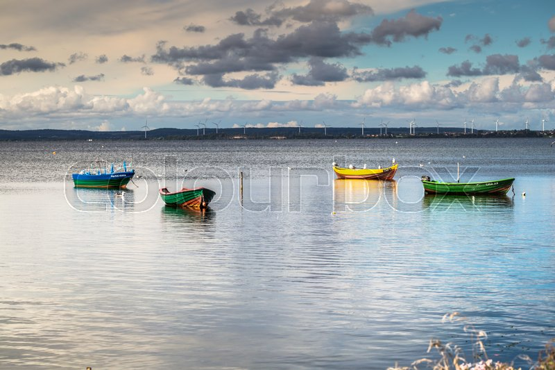 Editorial image of 'Puck,Poland-September 5,2016:fishing boats, Baltic sea, Bay of Puck'