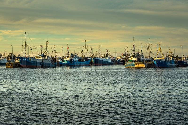 Editorial image of 'Wladyslawowo,Poland-September 7,2016:Pomerania, Kashubia, Wladyslawowo, Baltic Sea, port with fishing boats'