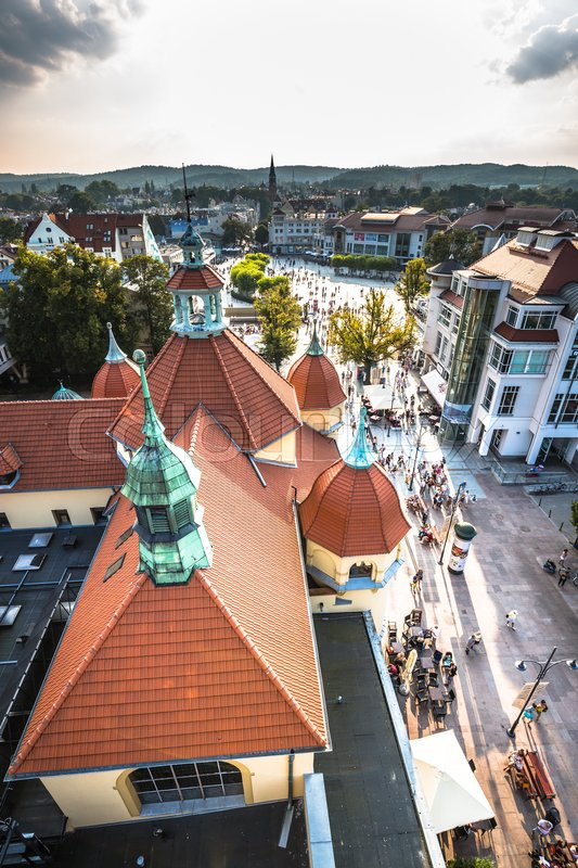 Editorial image of 'Sopot,Poland-September 7,2016:View of the Sopot City in Poland'