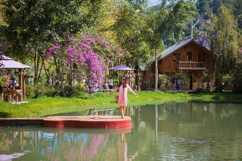 Editorial image of 'DALAT, VIETNAM - February 17, 2017: Homestay Ma Rung Lu Quan at Da Lat, Lam Dong, Viet Nam'