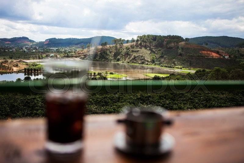 Stock image of 'DALAT, VIETNAM - February 17, 2017: Nice landscape view from Me Linh coffee, Da Lat, Viet Nam.'