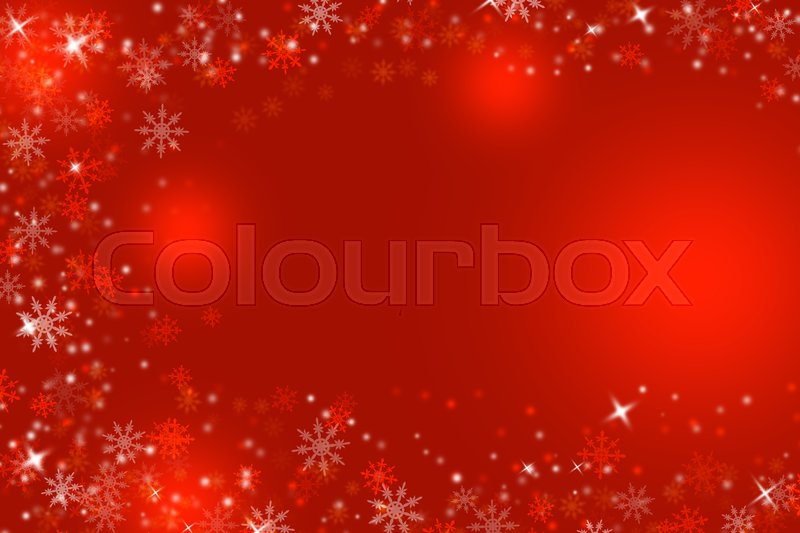 Stock image of 'Winter or Christmas illustration background with snowflakes, space for text or image, '