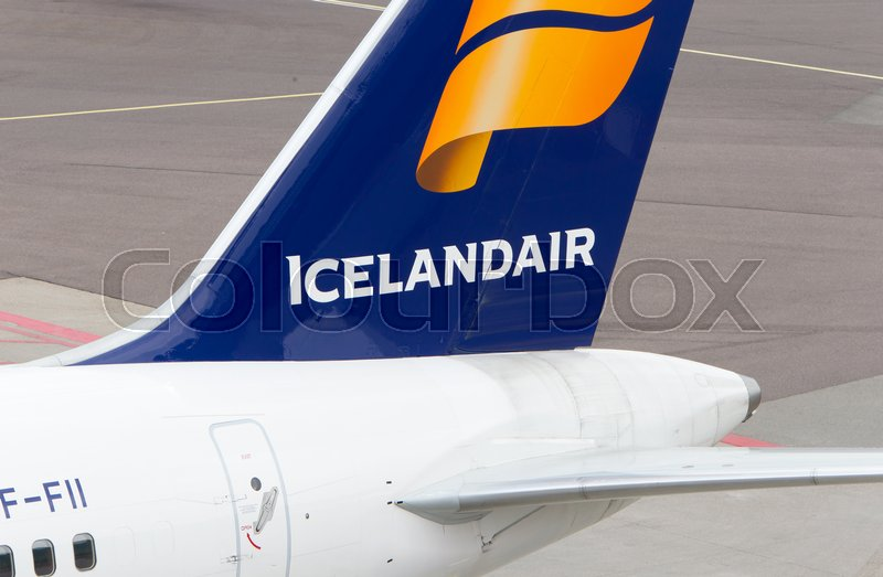 Editorial image of 'Schiphol, The Netherlands on June 29, 2017; Icelandair Airlines Boeing 757 tail livery at at Schiphol on 29 june 2017.'