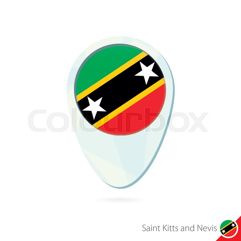 Saint Kitts and Nevis flag location ... | Stock Vector | Colourbox