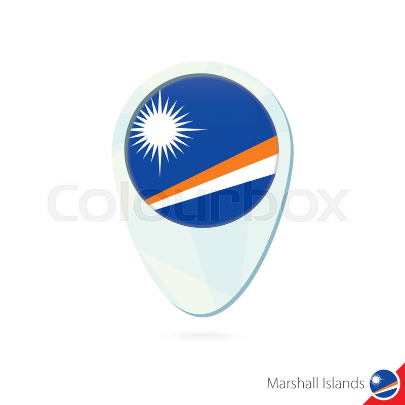 Marshall Islands flag location map pin ... | Stock vector ...