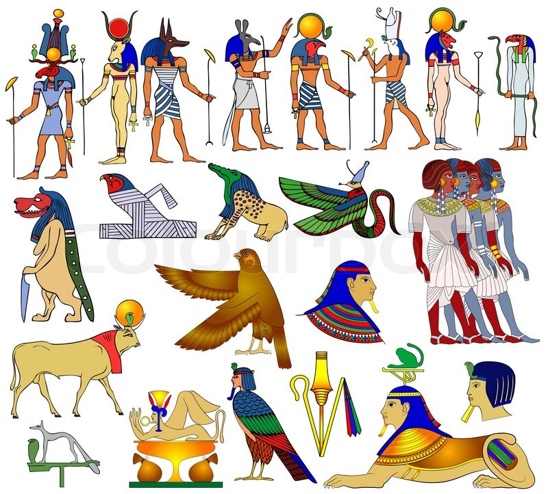 Ancient Egypt Gods And Goddess Of Ancient Egypt And Various Demon