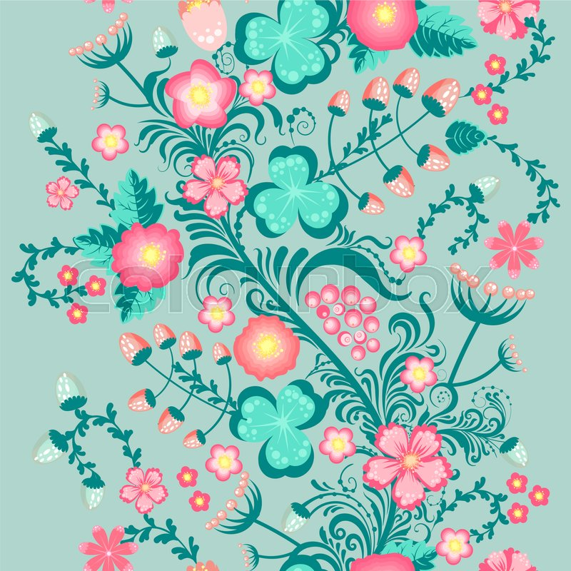 Stock image of 'Spring floral seamless pattern in soft pastel colors cute seamless background'