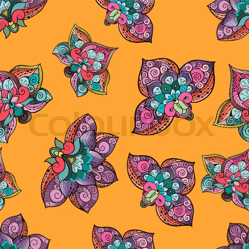 Stock image of 'Beautiful stylized floral seamless pattern for your business. Fantazy flowers on bright yellow background.'