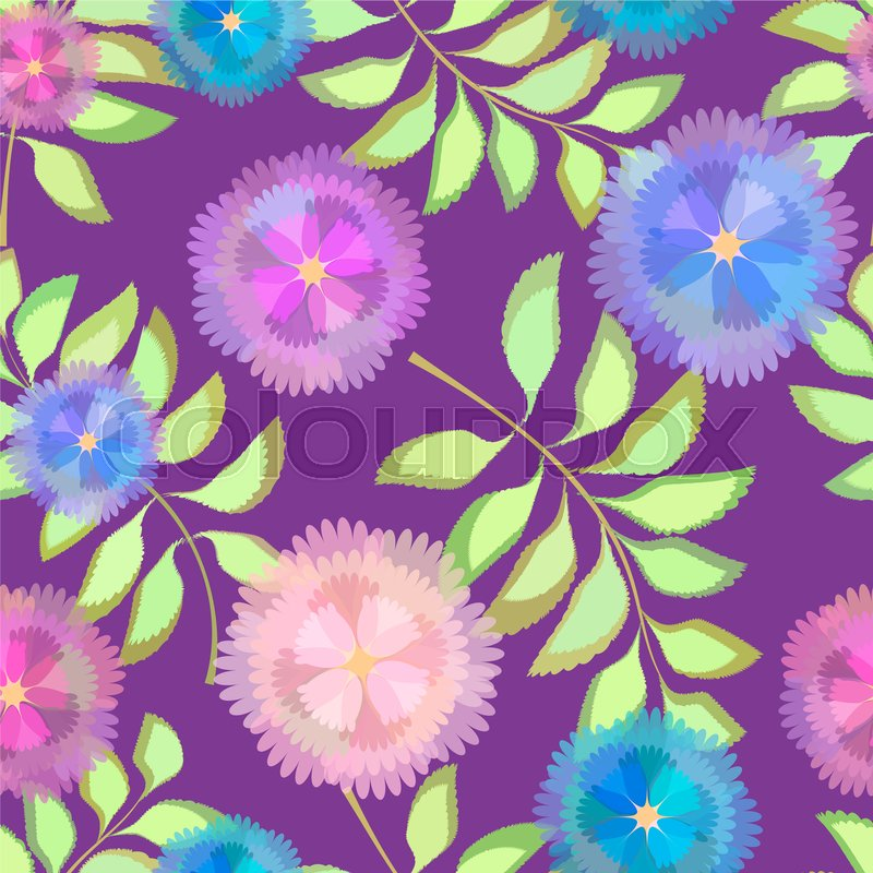 Stock image of 'Abstract Elegance Seamless pattern floral background for design and decoration'