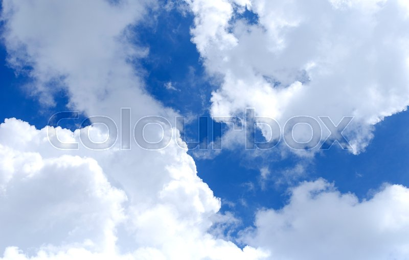 Stock image of 'The clouds in the sky on a sunny day.'