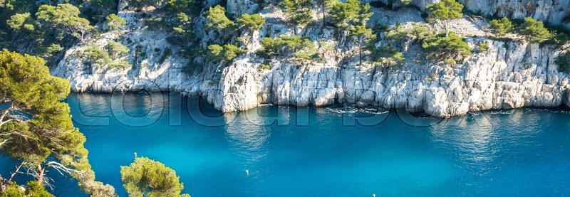 Stock image of 'Calanques of Port Pin in Cassis in France near Marseille'