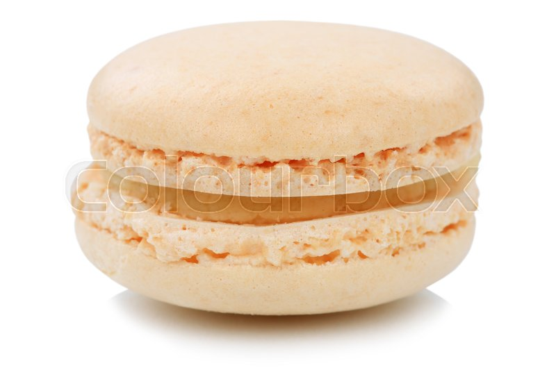 Stock image of 'Almond macaron macaroon cookie dessert from France isolated on a white background'