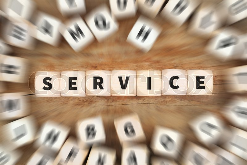 Stock image of 'Service services support dice business concept idea'