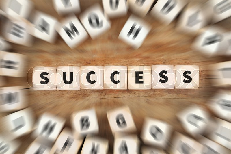 Stock image of 'Success successful at work job career leadership strategy dice business concept idea'
