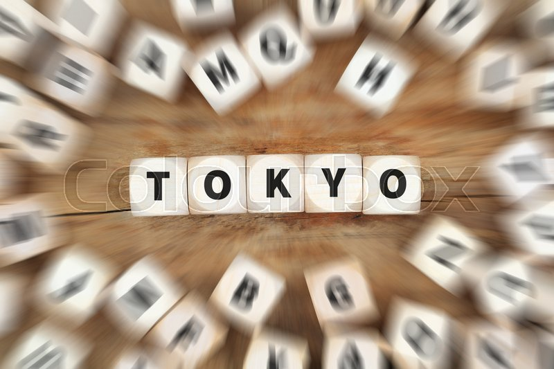 Stock image of 'Tokyo Japan city dice business concept idea'