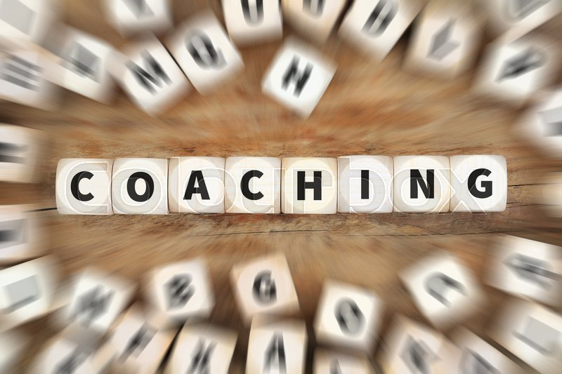 Stock image of 'Coaching and mentoring education training workshop learning seminar dice business concept idea'