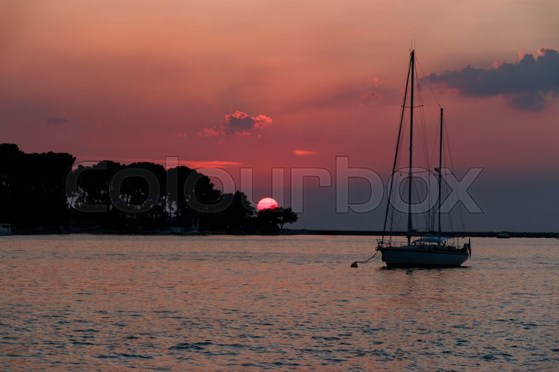 Stock image of 'sunset, view, seascape'