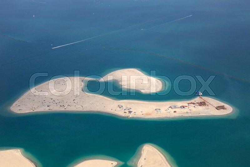 Stock image of 'Dubai The World Clarence Island aerial view photography UAE'