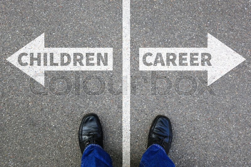 Stock image of 'Children child kids career success job work life business concept successful'