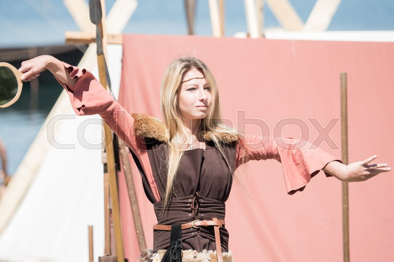 Editorial image of 'People, salesstands and general impressions of the medieval age festival on Lake Murner in Wackersdorf, Bavaria on 27 May 2017'