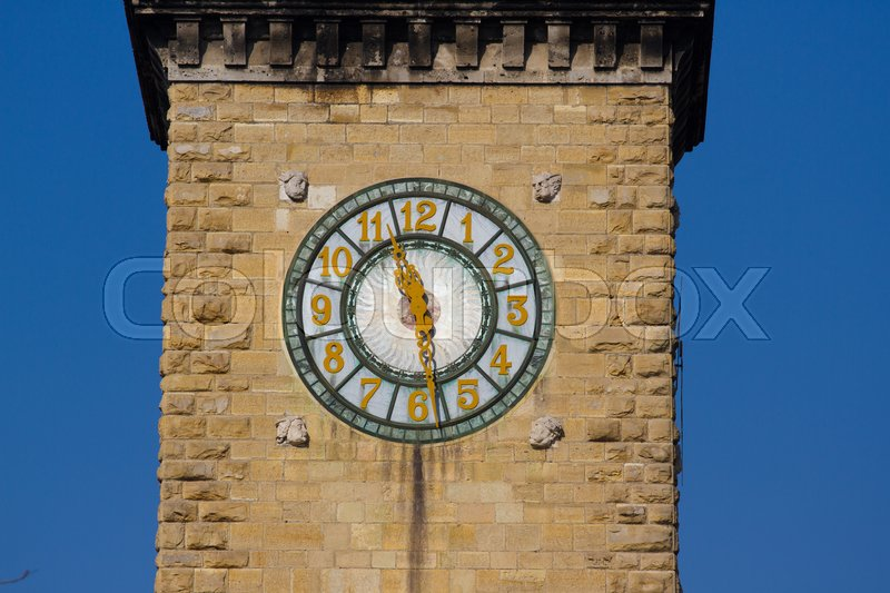 Stock image of 'Clock tower. Historical center of Milano Bergamo'