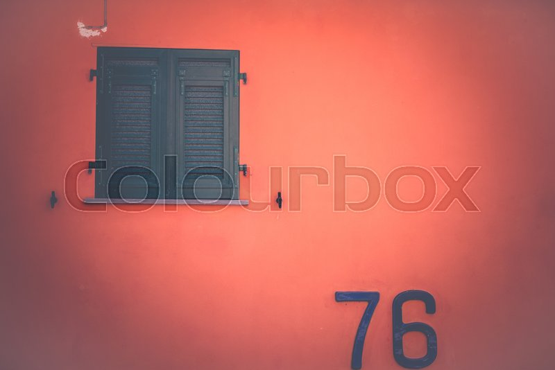 Stock image of 'Close up of an italian windows in the Cinque Terre National Park'