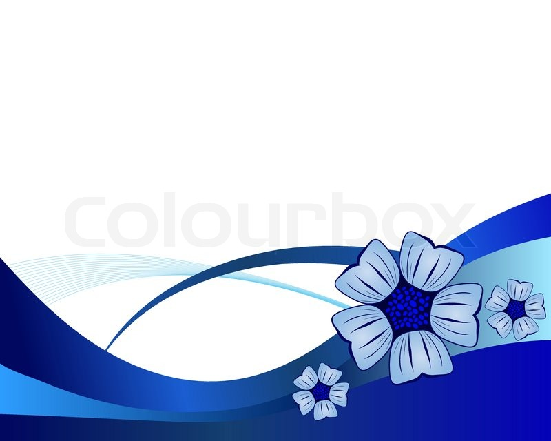 blue flower vector background for use in web design