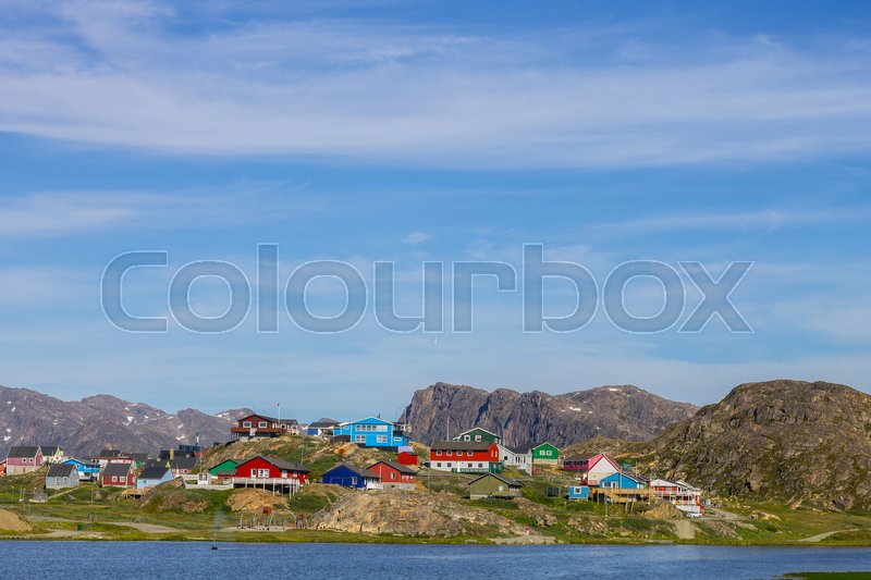 Stock image of 'Sisimiut in the summer'