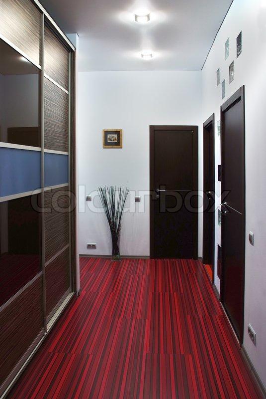 Innenraum eines modernen design leeren flur stockfoto for Innenraum design programm kostenlos