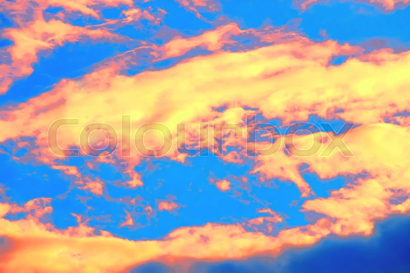 Stock image of 'Sunset colorful sky'