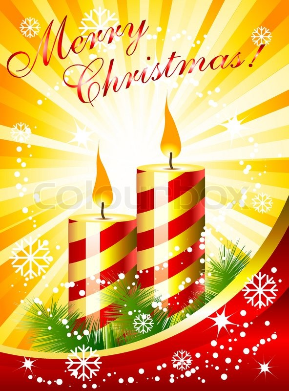 Stock vector of 'Christmas card with candles'