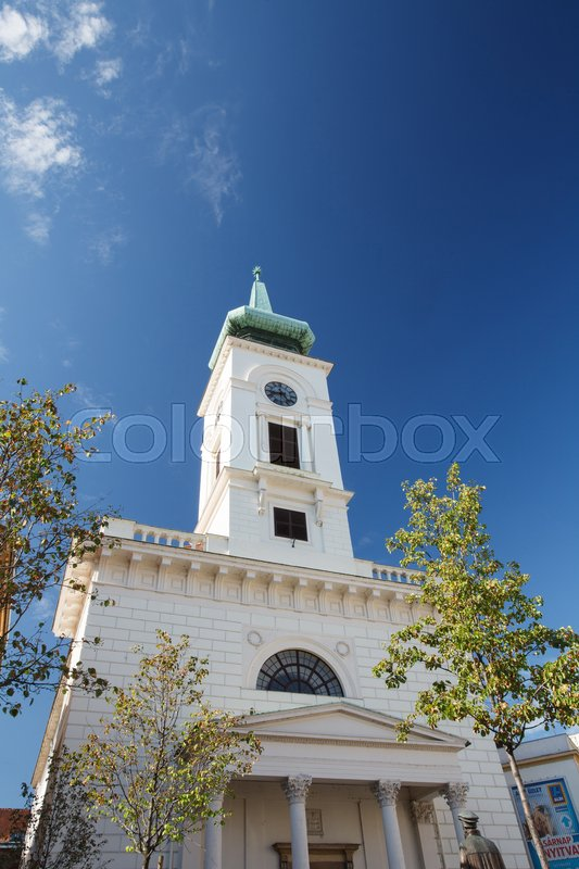 Editorial image of 'Kalvin Square Reformed Church, Budapest. Hungary '