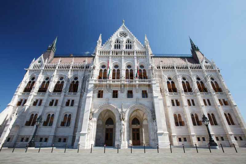 Editorial image of 'Another side of the famous the Hungarian Parliament building, Budapest, Hungary '