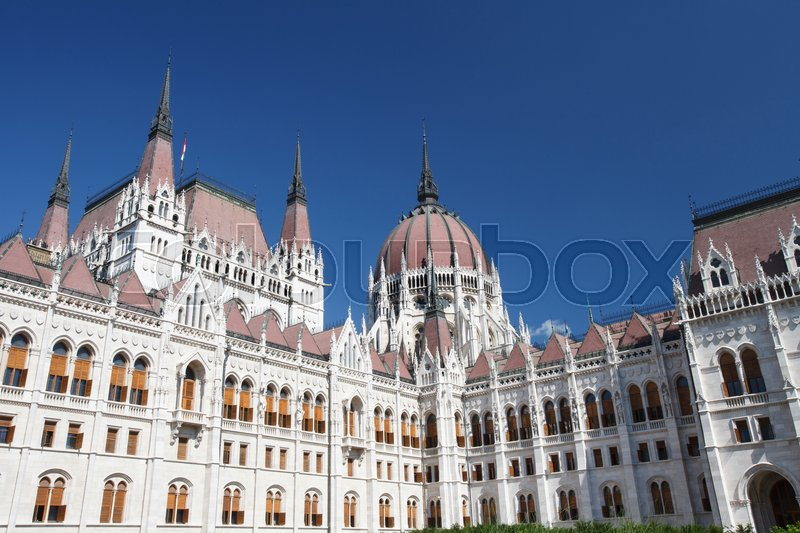 Editorial image of 'Inner courtyard of the famous building of the Hungarian Parliament, Budapest, Hungary. '