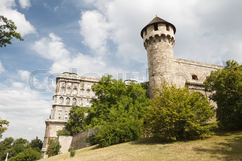 Editorial image of 'Mace tower and a medieval fortress in the Buda Castle in Budapest. Hungary '